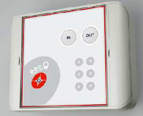 Solo Timebox a static device for clocking in and out of a clients site