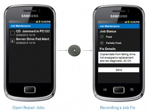 Using SoloAdvance to record job completions on site as they happen